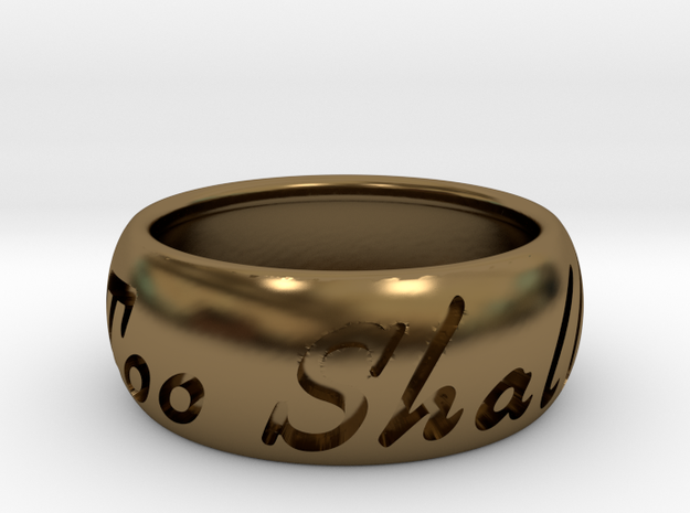 This Too Shall Pass ring size 10 3d printed