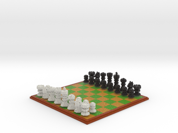 3D Pixel Chess Set - PC Game