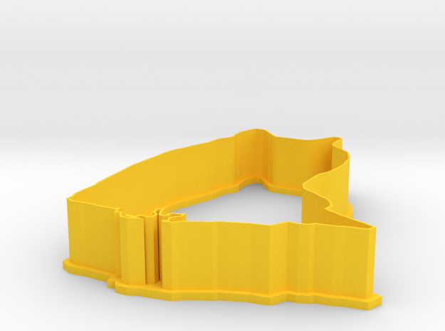 doge cookie cutter in Yellow Processed Versatile Plastic