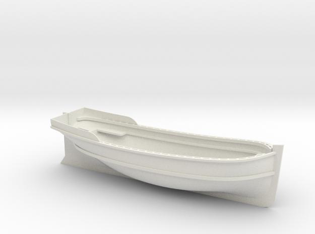 XVIII-XIX century launch 1:24 Scale in White Natural Versatile Plastic