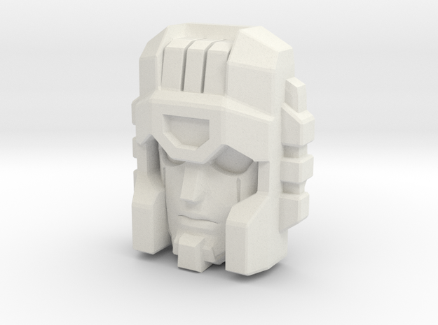 Cloudburst/Micronus Face in White Natural Versatile Plastic