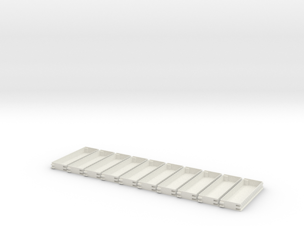 N gauge Platforms X10 textured and seamless joinin in White Natural Versatile Plastic