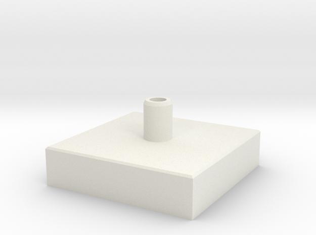 Concrete bloc in White Natural Versatile Plastic