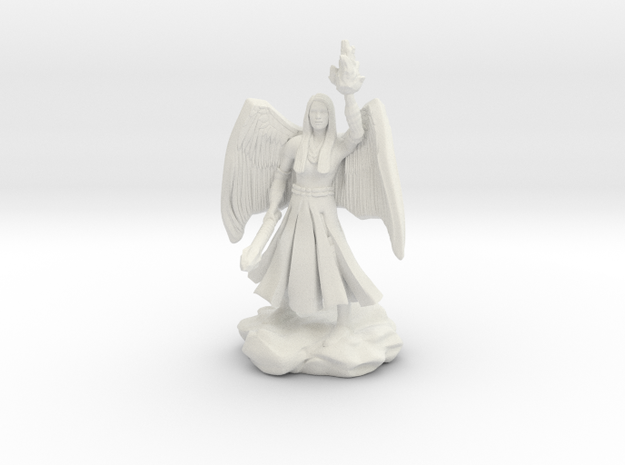 Female Aasimar Cleric With Mace
