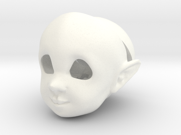 BJD Sprite Head: Torben in White Processed Versatile Plastic