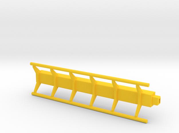 straight roller coaster rail in Yellow Processed Versatile Plastic