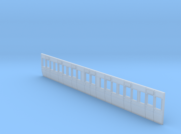 GWR Carriage side Diagram D2 40ft in 4mm scale in Smooth Fine Detail Plastic