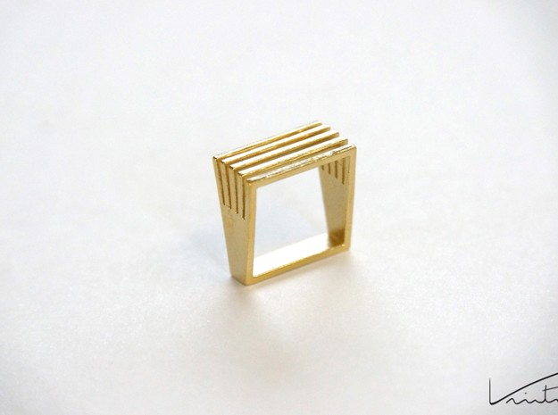 Square Array in Natural Brass: 8 / 56.75