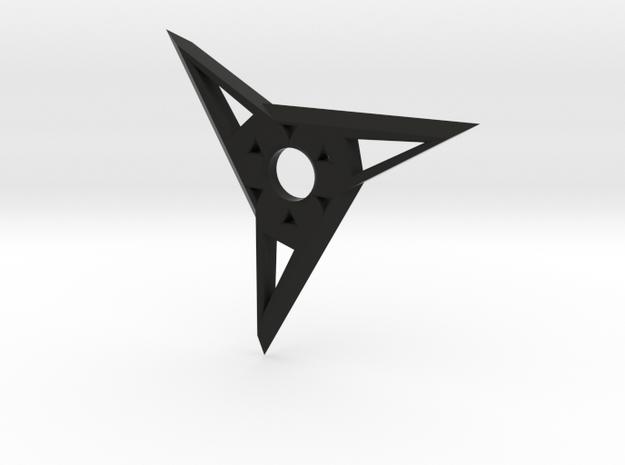 Ninja Star, 3-sided in Black Strong & Flexible