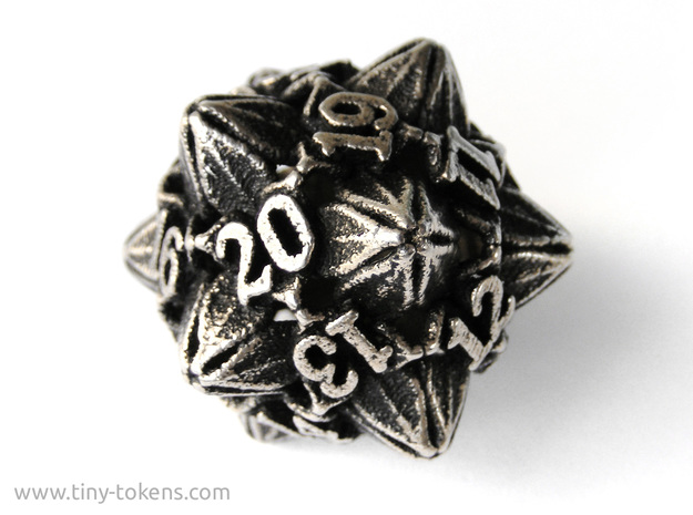 Floral Dice – D20 Spindown Life Counter die
