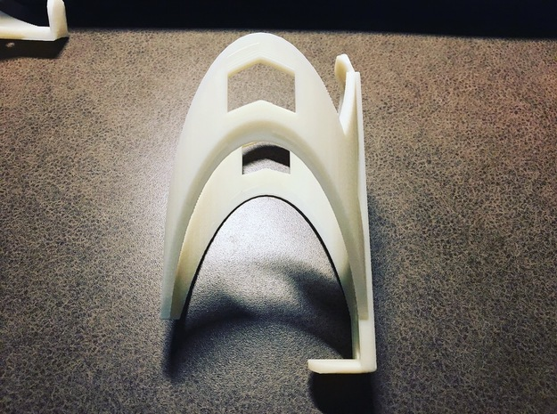 Bottle Cage 1 in White Strong & Flexible Polished