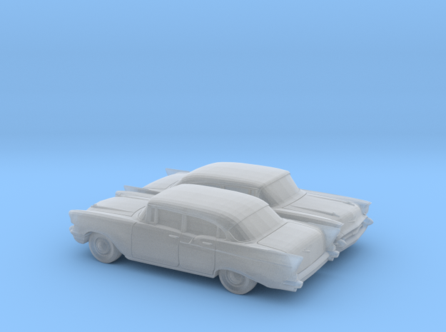 1/120 2X 1957 Chevrolet One Fifty Sedan in Smooth Fine Detail Plastic