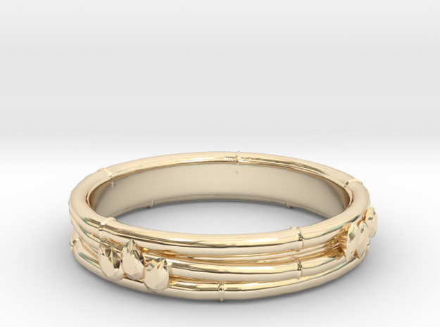 Taketori ring(Japan 10,USA 5.5,Britain K)  in 14K Yellow Gold