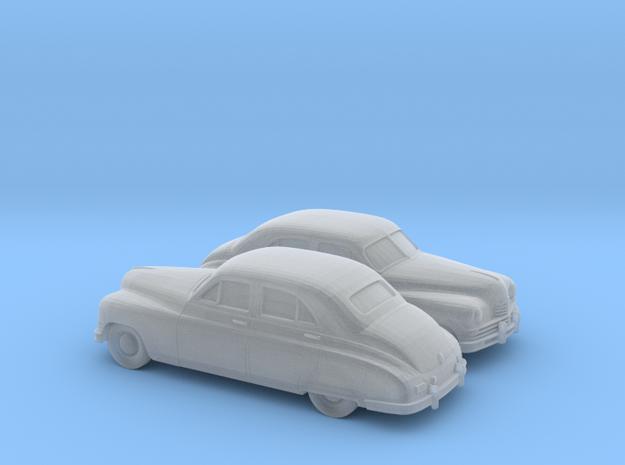 1/120 2X 1948-50 Packard Super Eight Series Sedan in Smooth Fine Detail Plastic