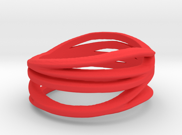 My Awesome Ring Design Ring Size 8 in Red Processed Versatile Plastic: Small