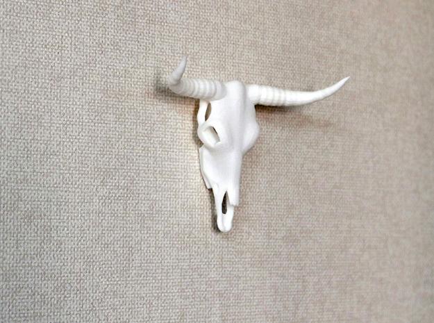 Bull Skull in White Strong & Flexible