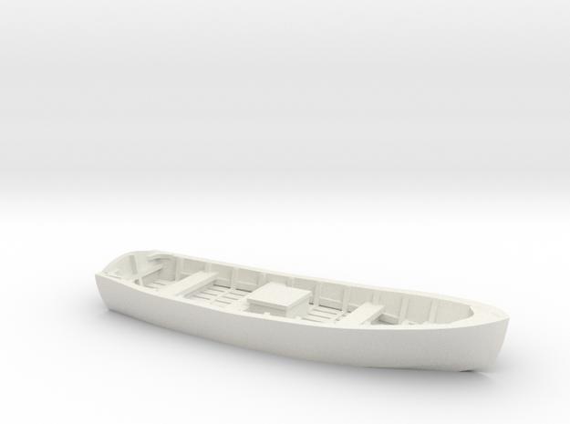 Wooden SKIFF BOAT O Scale in White Natural Versatile Plastic