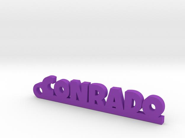 CONRADO_keychain_Lucky in Purple Processed Versatile Plastic