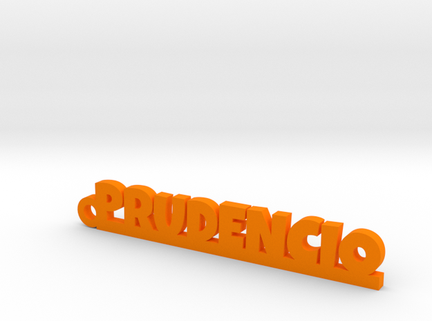 PRUDENCIO_keychain_Lucky in Orange Processed Versatile Plastic