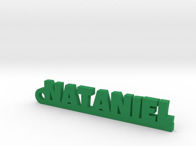 NATANIEL_keychain_Lucky in Green Processed Versatile Plastic