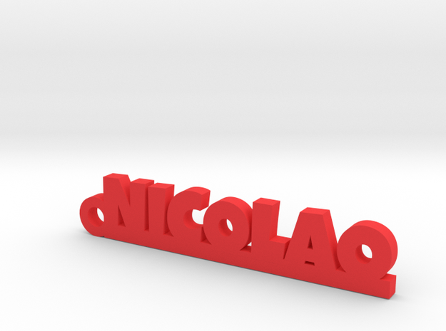 NICOLAO_keychain_Lucky in Red Processed Versatile Plastic