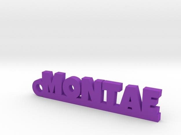 MONTAE_keychain_Lucky in Purple Processed Versatile Plastic