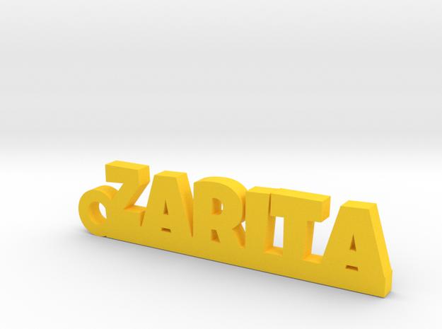 ZARITA_keychain_Lucky in Yellow Processed Versatile Plastic