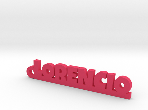 LORENCIO_keychain_Lucky in Pink Processed Versatile Plastic