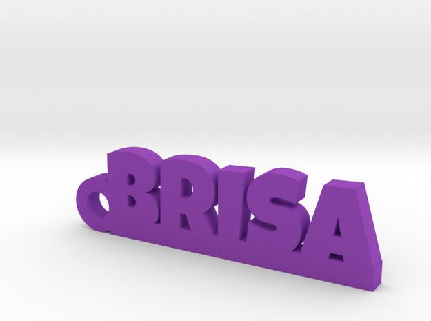 BRISA_keychain_Lucky in Purple Processed Versatile Plastic
