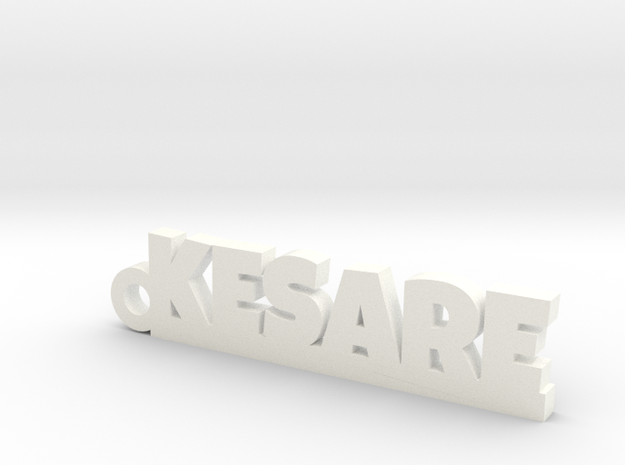 KESARE_keychain_Lucky in White Processed Versatile Plastic
