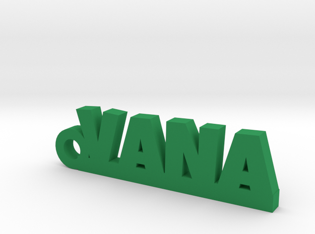 VANA_keychain_Lucky in Green Processed Versatile Plastic