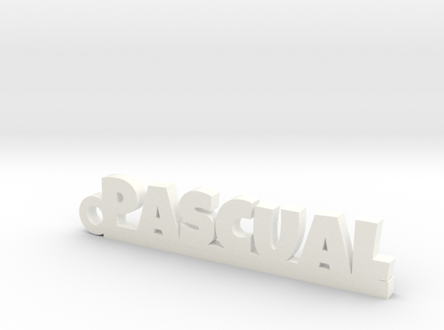 PASCUAL_keychain_Lucky in White Processed Versatile Plastic