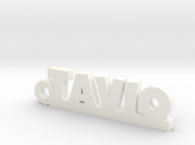 TAVIO_keychain_Lucky in White Processed Versatile Plastic