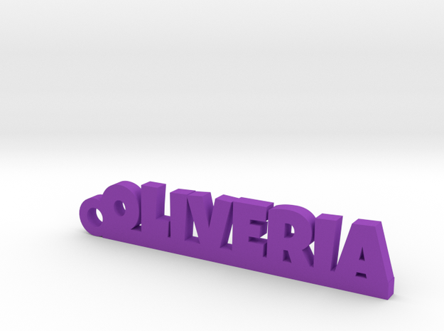 OLIVERIA_keychain_Lucky in Purple Processed Versatile Plastic