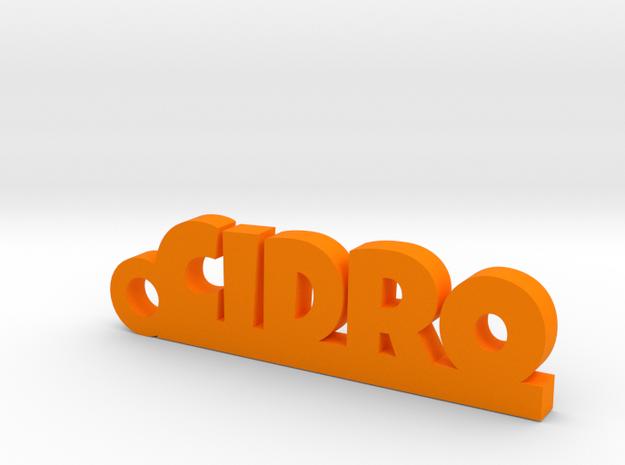 CIDRO_keychain_Lucky in Orange Processed Versatile Plastic