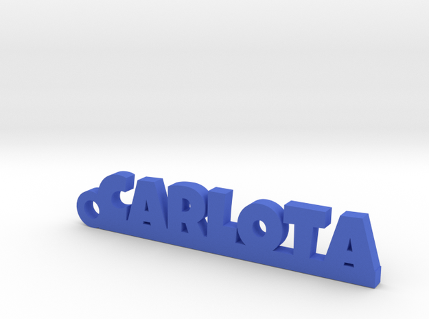 CARLOTA_keychain_Lucky in Blue Processed Versatile Plastic