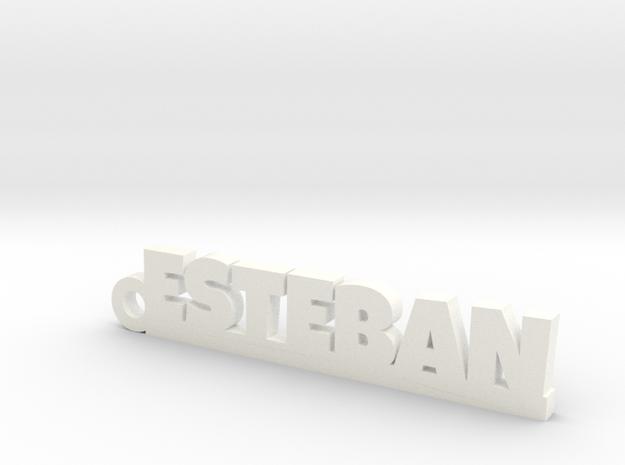ESTEBAN_keychain_Lucky in White Processed Versatile Plastic