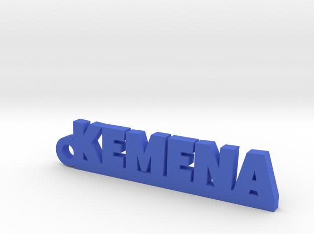 KEMENA_keychain_Lucky in Blue Processed Versatile Plastic