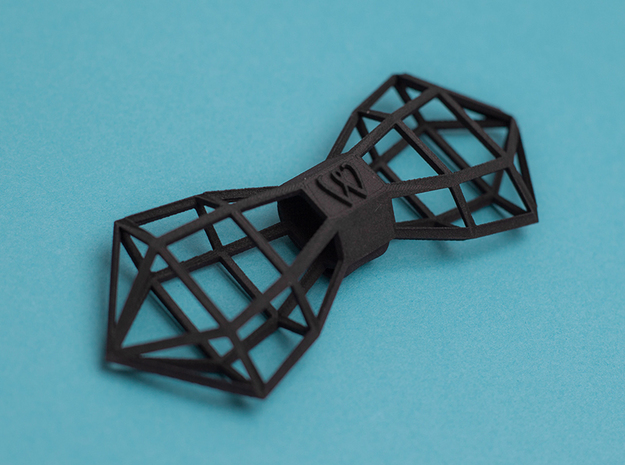 WIREFRAMER Bowtie by BITS TAILOR- READ DESCRIPTION in Black Natural Versatile Plastic