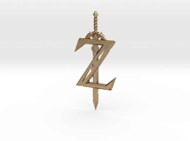 Breath of the Z -- Pendant in Polished Gold Steel