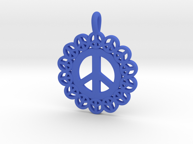 24- PEACE CIRCLES in Blue Strong & Flexible Polished: Small