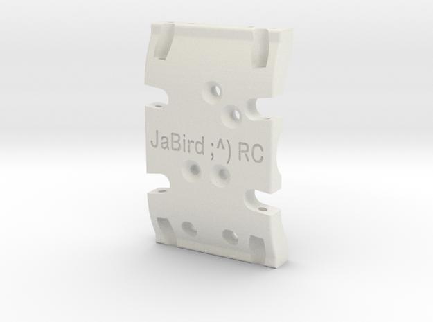 JaBird ;^) RC Dual Purpose SCX10 & SCX10.2 Skid Pl in White Strong & Flexible