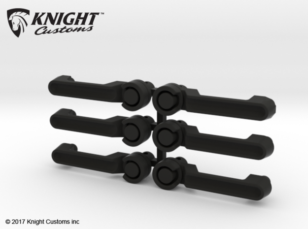 AJ10058 JK Door Handles Set of 6 in Black Natural Versatile Plastic