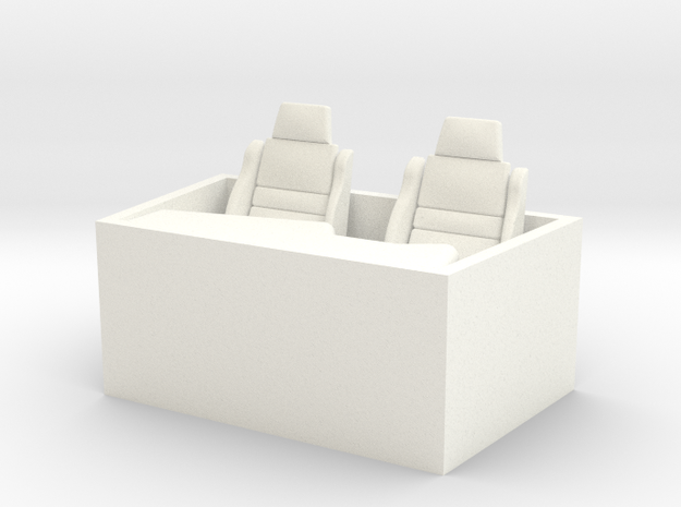 1-25 Small Interior in White Processed Versatile Plastic