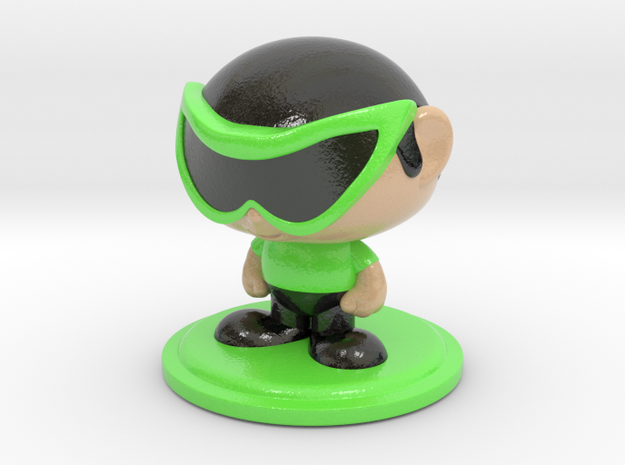 Collectame - Male Green Glasses in Glossy Full Color Sandstone