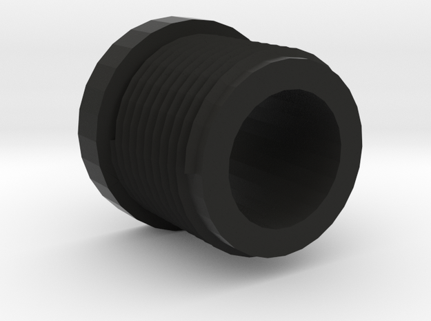 14mmx1 Positive Muzzle Thread Interface in Black Strong & Flexible