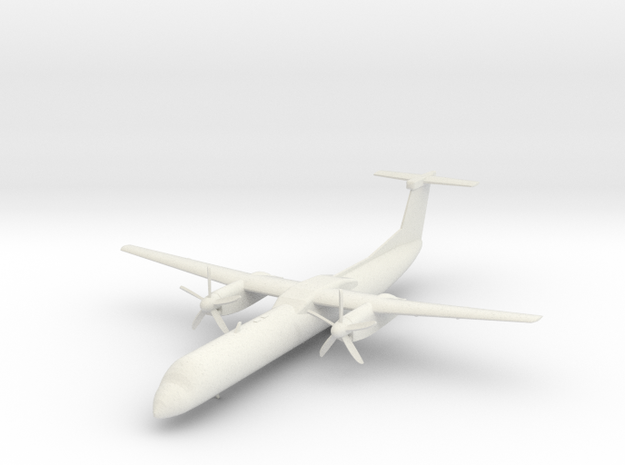 Bombardier Dash 8 Q400 in White Strong & Flexible