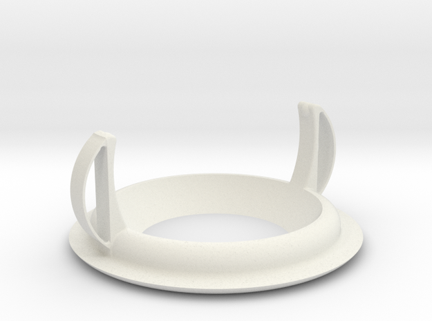 Recessed ceiling mount for Fibaro Motion Sensor v2 in White Natural Versatile Plastic