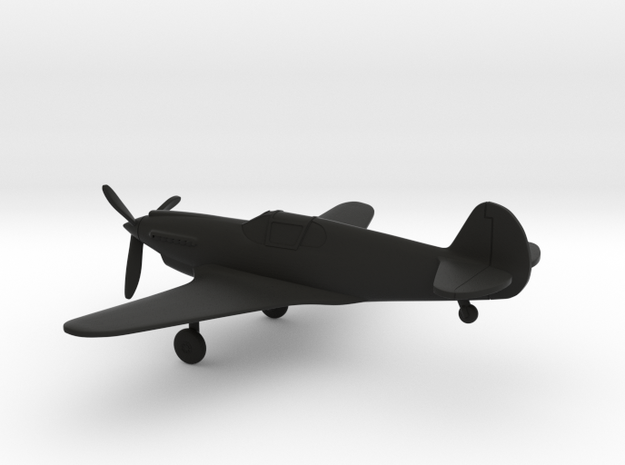 Curtiss XP-46 in Black Natural Versatile Plastic: 1:160 - N