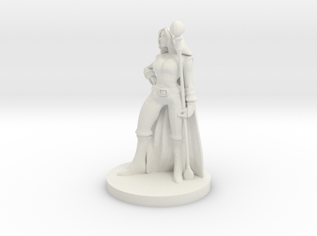 Female Fire Sorcerer in White Natural Versatile Plastic